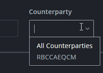 Counterparty filter