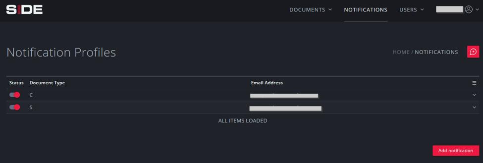 Notification profiles
